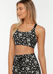 Daisy Days Sports Bra, Daisy Days Print, hi-res