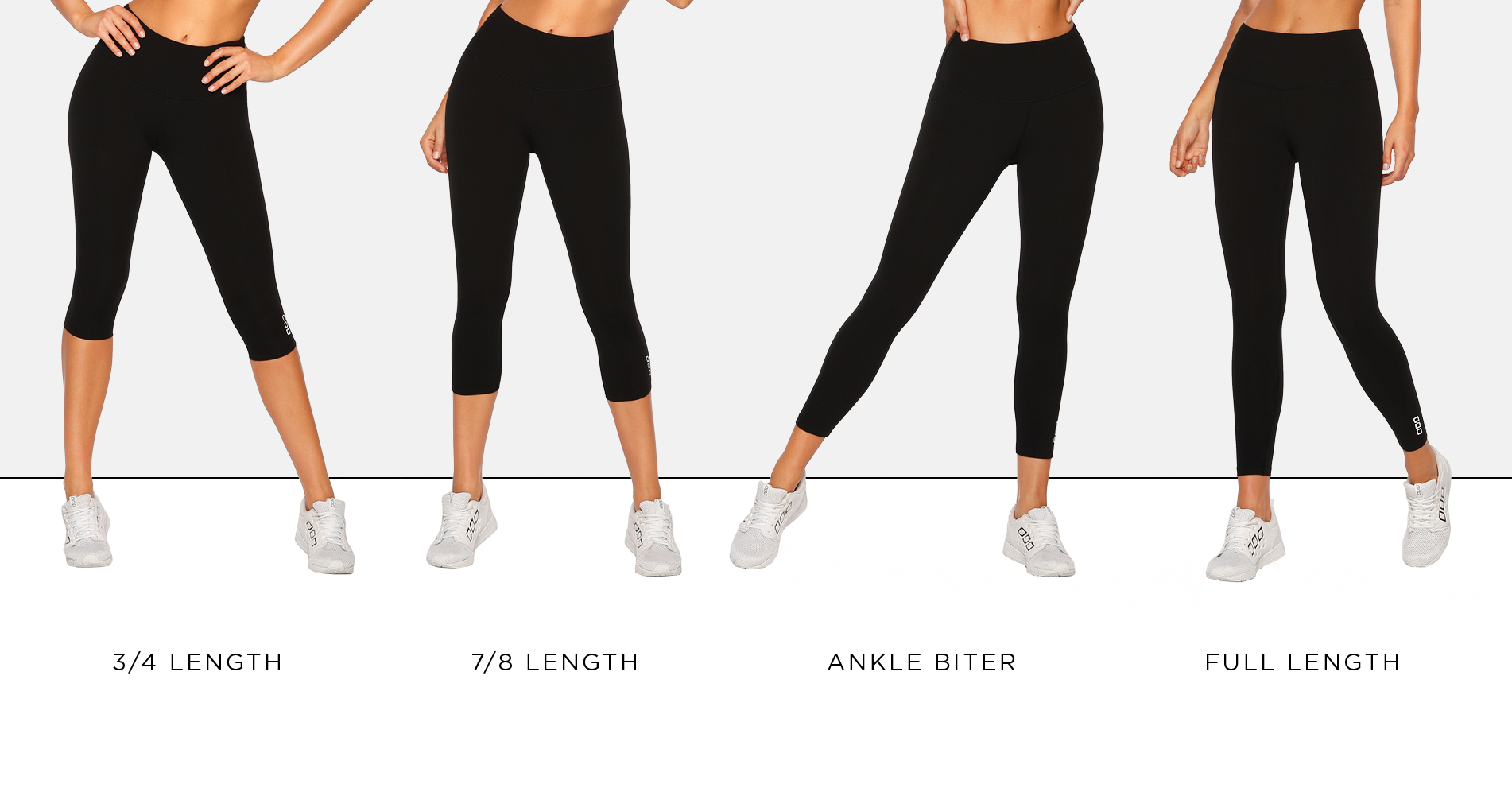 Lorna Jane tights and leggings lengths